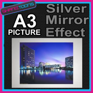 CITY BUILDINGS IMAGE ALUMINIUM PRINTED PICTURE SPECIAL EFFECT PRINT NOT CANVAS